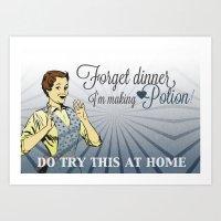 Making Potion Art Print