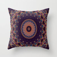 Jewelled Peacock Throw Pillow