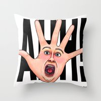 Five Fingered Face Throw Pillow