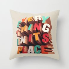 Everything In Its Place Throw Pillow