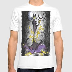 Maleficent  SMALL White Mens Fitted Tee