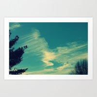 Happy Blue Sky Art Print