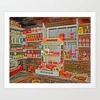 The Old Corner Shop. Art Print