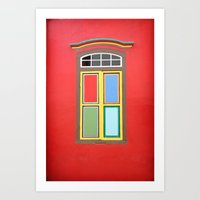 WINDOW SERIES - SINGAPORE Art Print