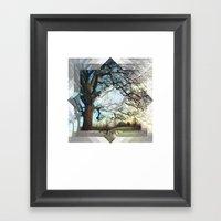 Geo Tree Framed Art Print