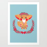 Miss Fennec Fox Art Print