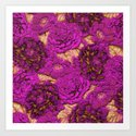 satin and lace flowers Art Print