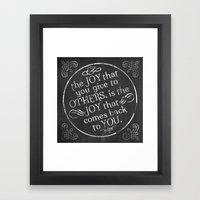 Give Joy  Framed Art Print
