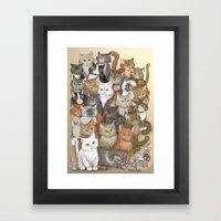 1000 cats Framed Art Print
