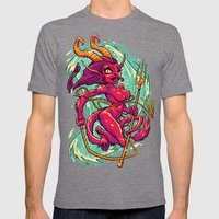 SHE-KRAMPUS Mens Fitted Tee Tri-Grey SMALL