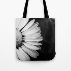 Black and White Flower Macro photography monochromatic photo Tote Bag