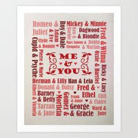Great Couples In History Art Print