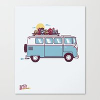 Road to the Big City Canvas Print