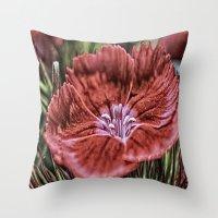 Little Red Flower. Throw Pillow