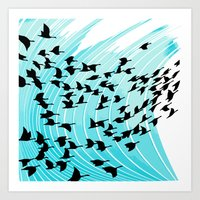 bird wrap Art Print