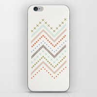 Mixed Zig Zag - in Mint iPhone & iPod Skin