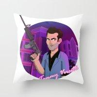 Vice City: Tommy Vercetti Throw Pillow