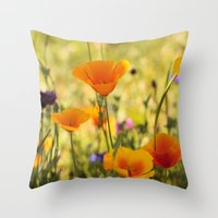 Summer Garden - JUSTART © Throw Pillow