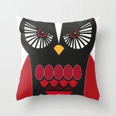 Evil Owl Throw Pillow