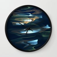 Water / H2O #62 (Water Abstract) Wall Clock