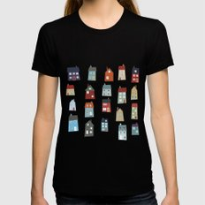 Little Houses Womens Fitted Tee Black SMALL