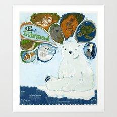 Spokesbear.  Art Print