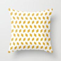 Rhombus Bomb In Mimosa Throw Pillow