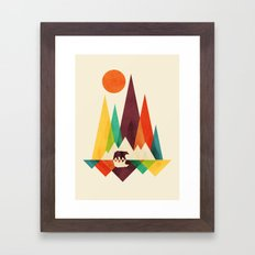 Bear In Whimsical Wild Framed Art Print