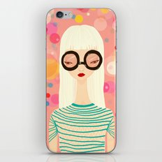 Girl with big glasses (II) iPhone & iPod Skin