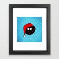 Cute Dazzled Bug Christmas Framed Art Print