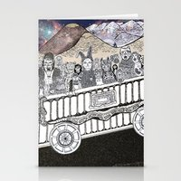 Animals On A Wagon Stationery Cards