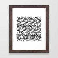 Waves All Over - Black and White Framed Art Print
