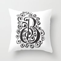 B - The Second Letter Of… Throw Pillow