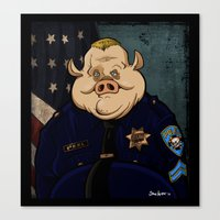 Officer Peel, Public Servant Canvas Print