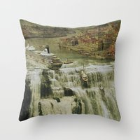 The Edge of the World Throw Pillow