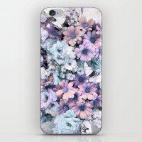 Pastel vintage floral iPhone & iPod Skin