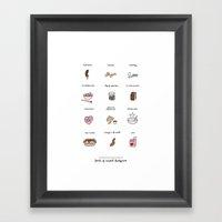 Foods Of The Bluths Framed Art Print