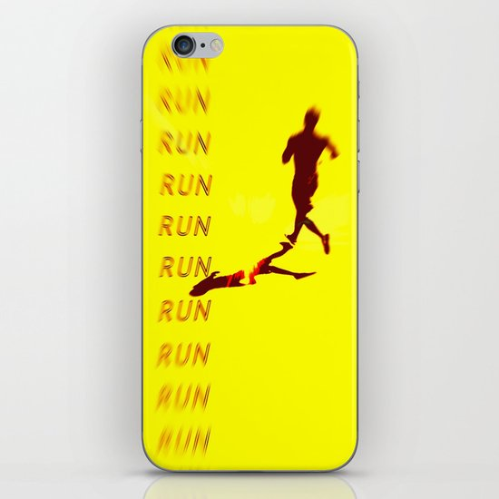 Run Run Run iPhone & iPod Skin