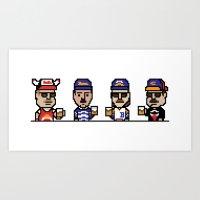 8-Bit: Superfans Art Print