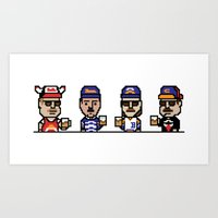 8-Bit: Superfans Art Print