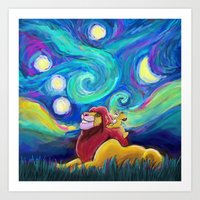 Starry Starry Night meets Kings of the Past Art Print