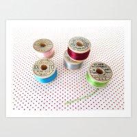 Silk Thread Spools Art Print