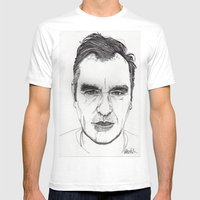 MORRISSEY Mens Fitted Tee White SMALL