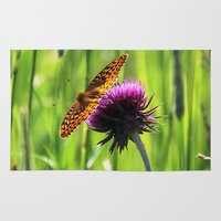 Great Spangled Fritillary Rug
