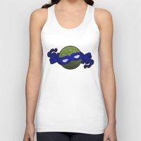 the blue turtle Unisex Tank Top