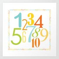 Numbers Square - Sandbox… Art Print