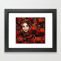 November Red Framed Art Print
