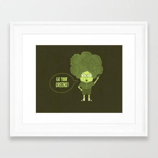 Healthy Advice Framed Art Print