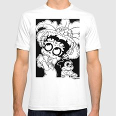 La Cartrina Betty (2nd Colorway) White Mens Fitted Tee SMALL