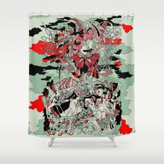 UNINVITED GARDEN Shower Curtain